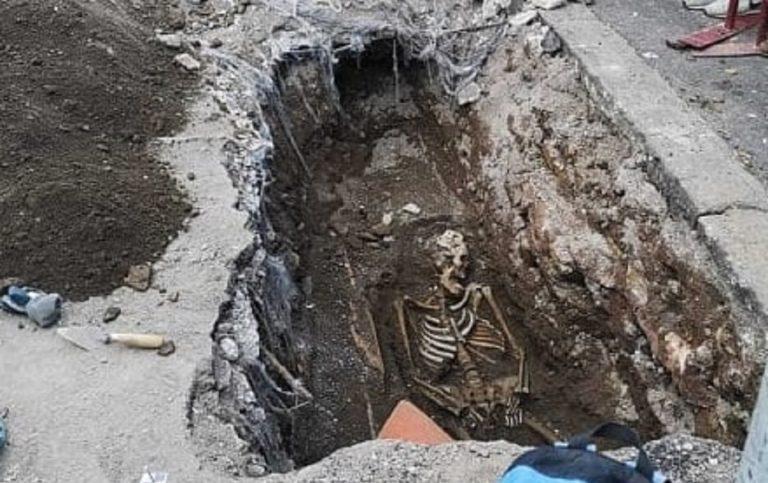 roma scheletro metro piramide
