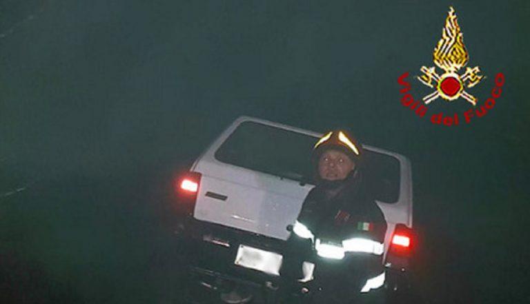 auto in un dirupo a Pistoia
