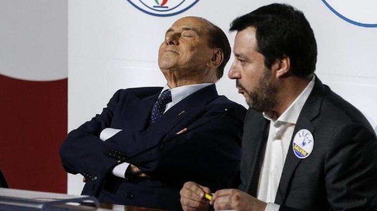Berlusconi Salvini leader centrodestra