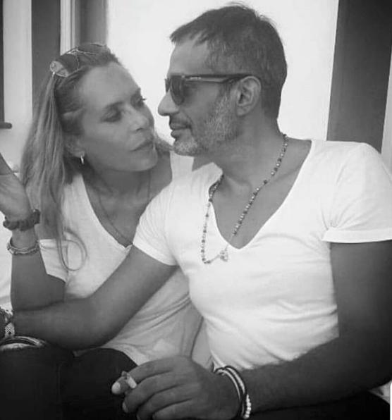 Barbara De Rossi con il fidanzato Simone