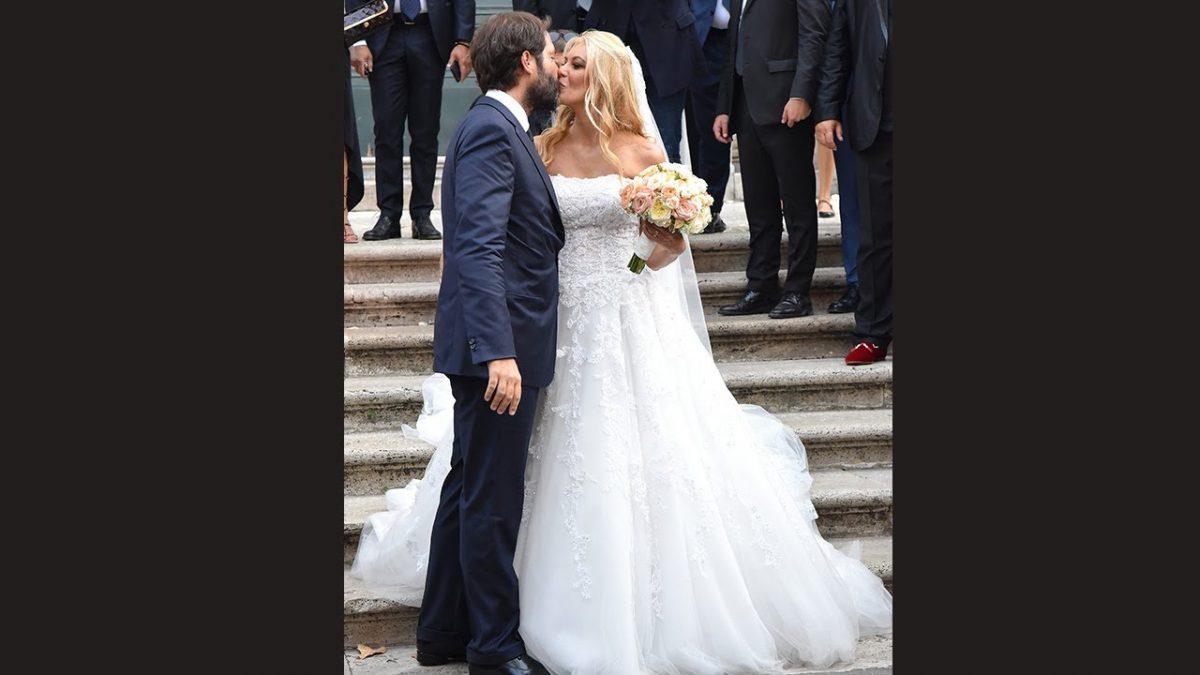 eleonora e giulio sposi, vestito bianco