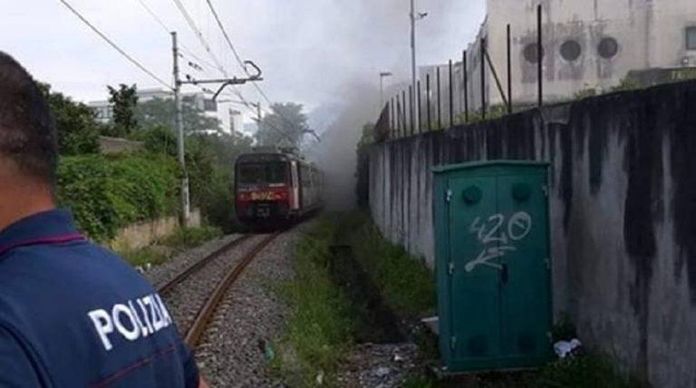 incendio treno circumvesuviana