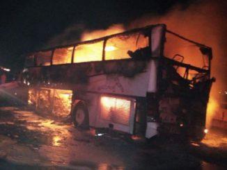 incidente autobus di pellegrini