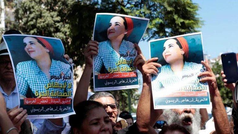 Re del Marocco grazia giornalista