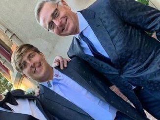 Paolo Bonolis matrimonio figlio