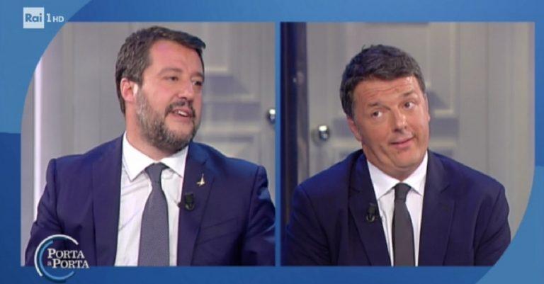 Renzi Salvini Porta a Porta