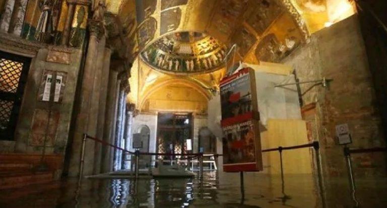 Acqua alta Venezia riscaldamento globale