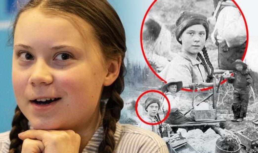 Greta Thunberg foto 120 anni fa