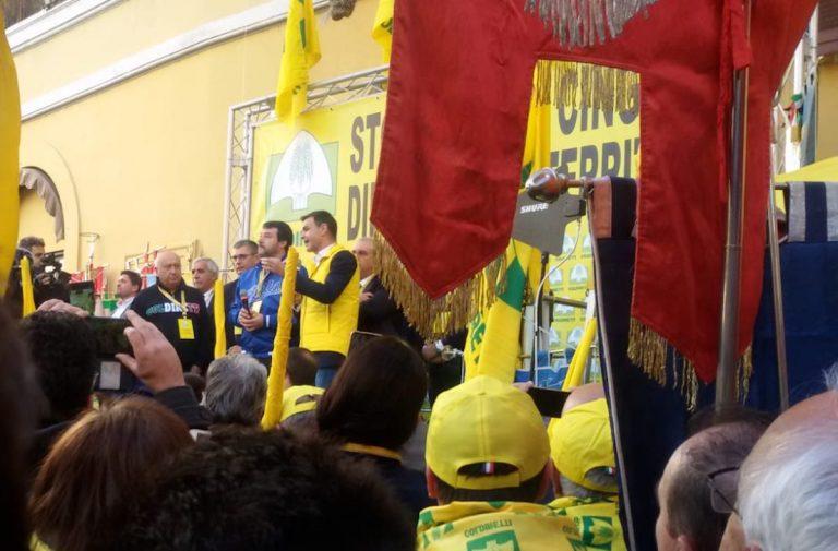 Salvini manifestazione Coldiretti