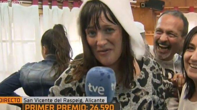 giornalista spagnola vince alla lotteria