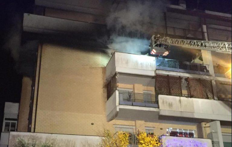 incendio appartamento roma
