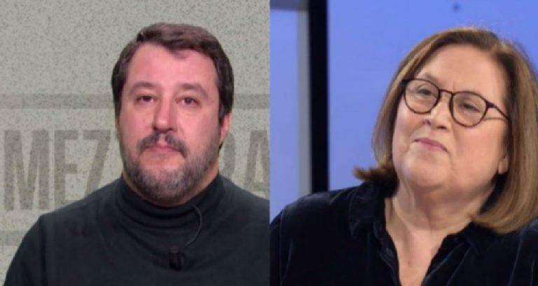 Salvini, per Annunziata il maglioncino diventa 'cogl......'