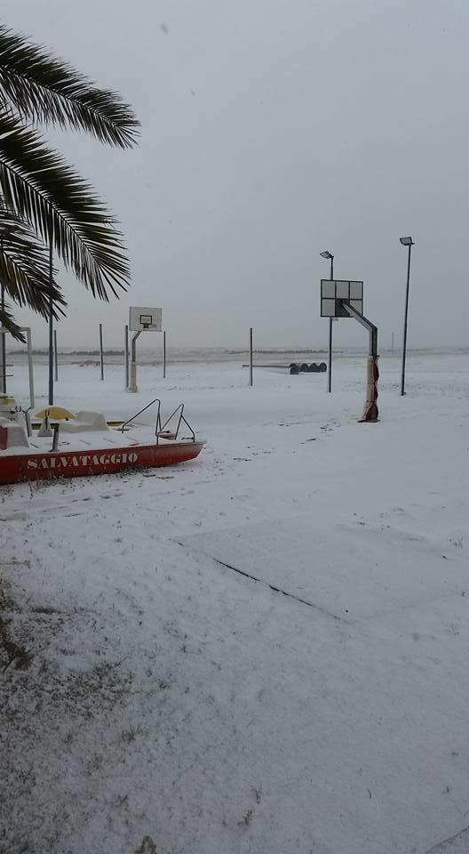 Neve a Milano Marittima