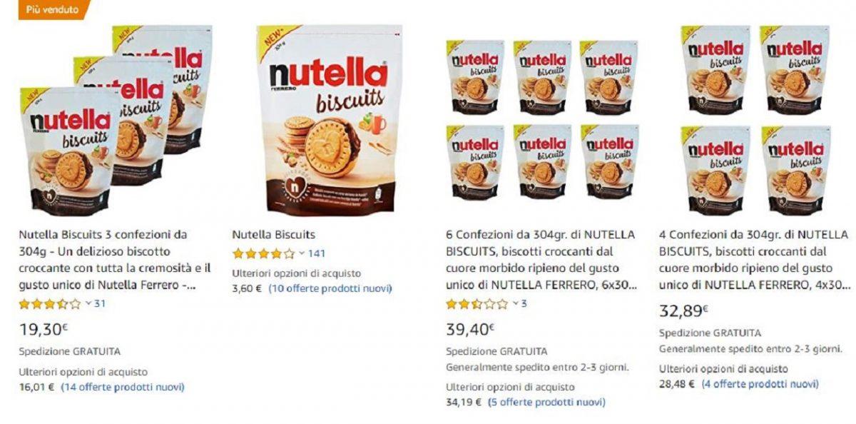 """Nutella Biscuits, bagarini su Amazon: il vero """"mercato nero"""""""