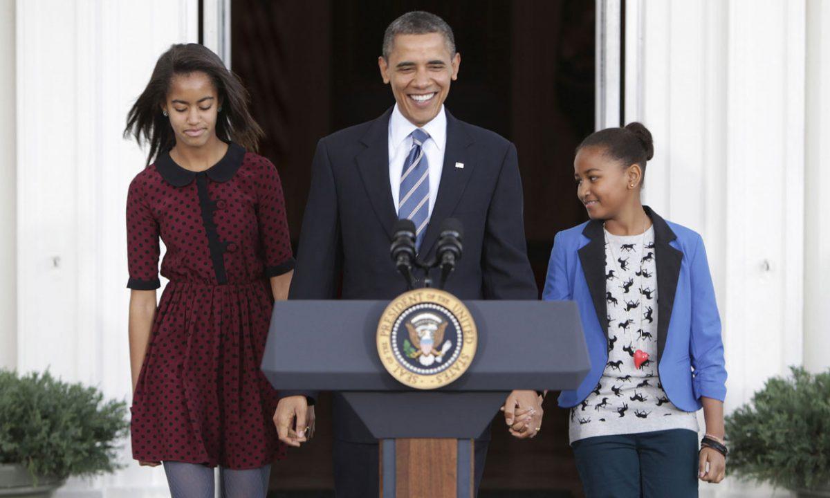 obama con le figlie