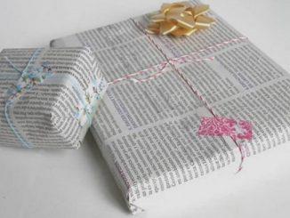 regali natale carta giornale