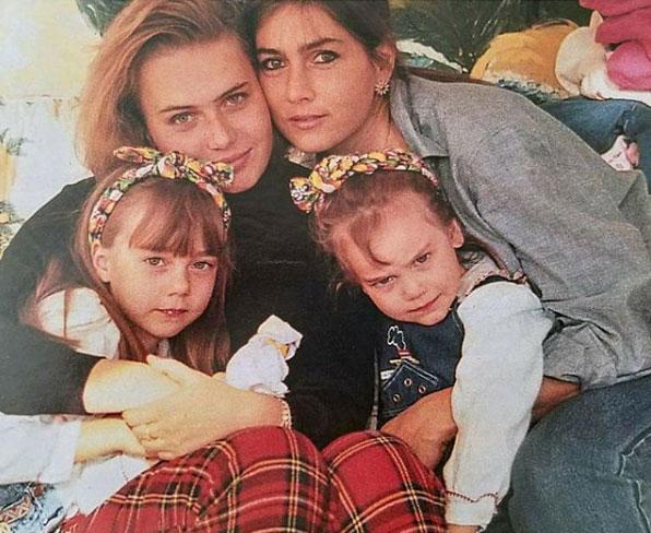 romina power con le figlie