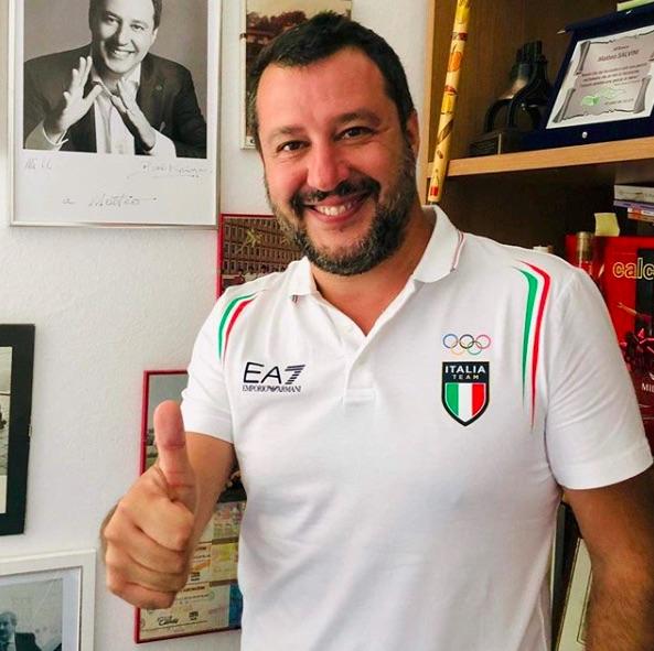 salvini maglia italia