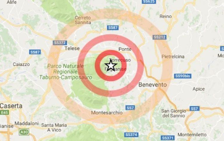 terremoto benevento oggi
