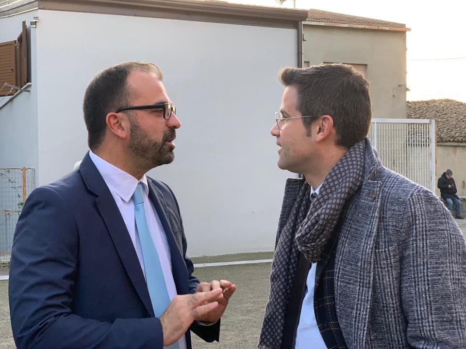 Gianluca Rospi insieme all'ex ministro Fioramonti