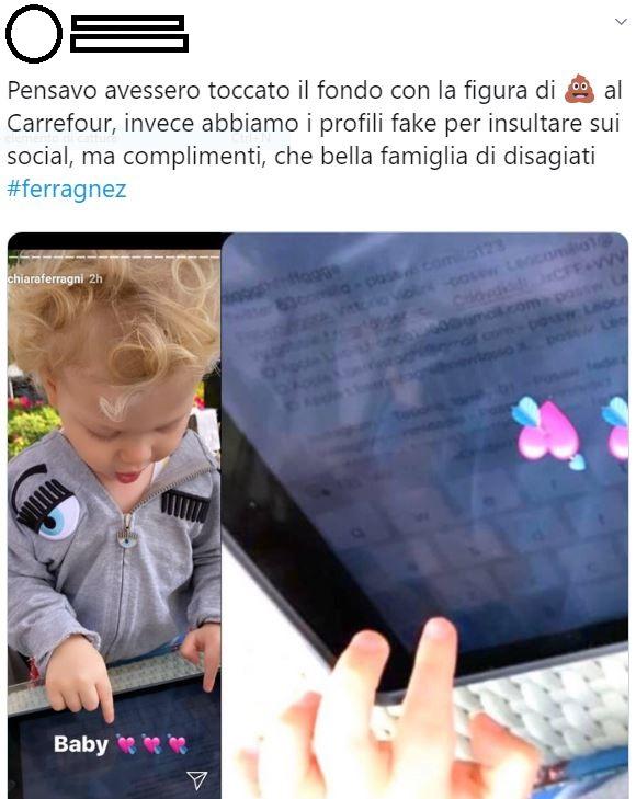 Chiara Ferragni e Fedez account fake