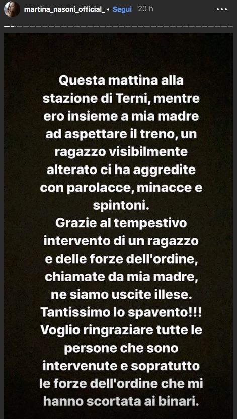 """Aggressione a Martina Nasoni e sua madre: """"Grandissimo spave"""