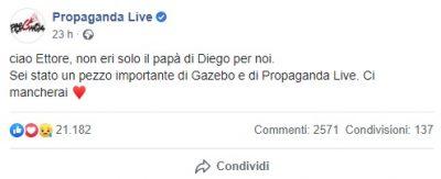 morto papà Diego Zoro Bianchi