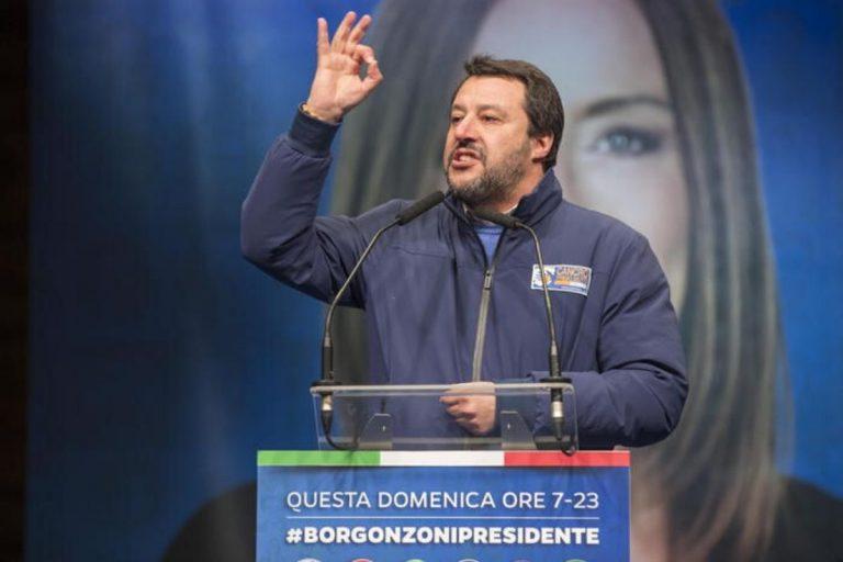 Salvini rompe silenzio elettorale