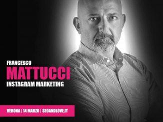 Francesco Mattucci, relatore SEO&love 2020