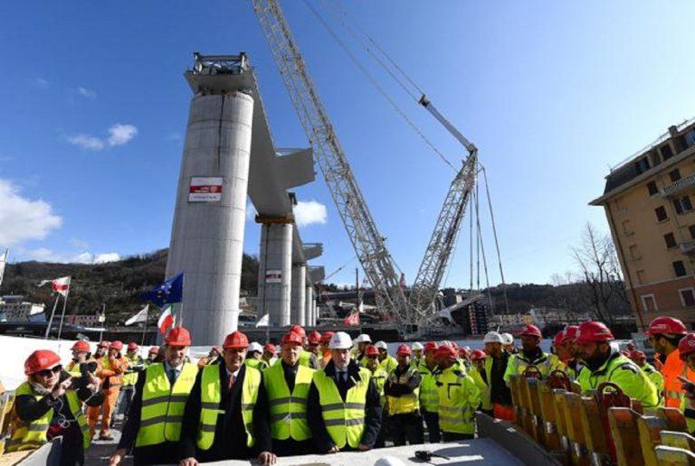 nuovo ponte morandi pile