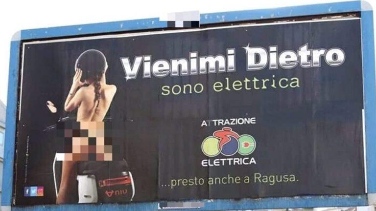 pubblicità sessista a Ragusa