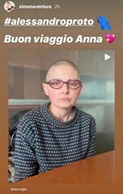 """Simona Ventura in lutto: """"Buon viaggio.."""""""