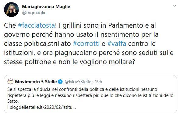 Tweet Maria Giovanna Maglie