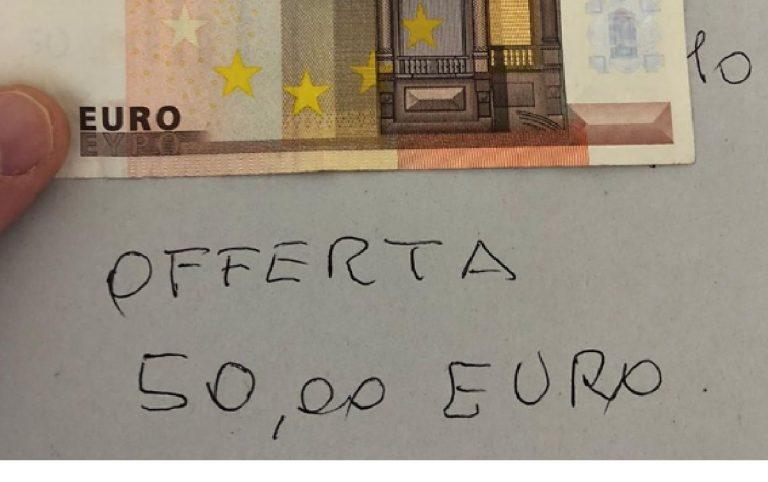 Coronavirus anziano 50 euro