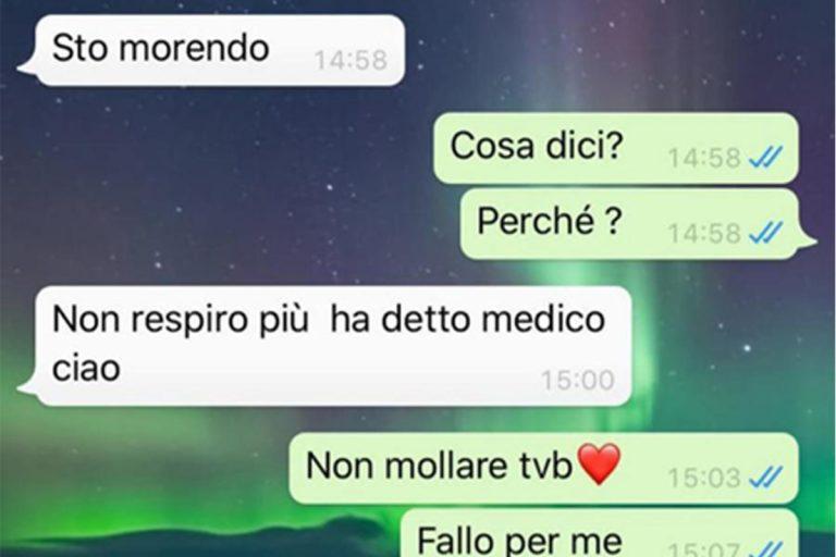 Coronavirus Bergamo messaggio whatsapp