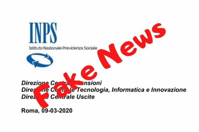 coronavirus inps fake news