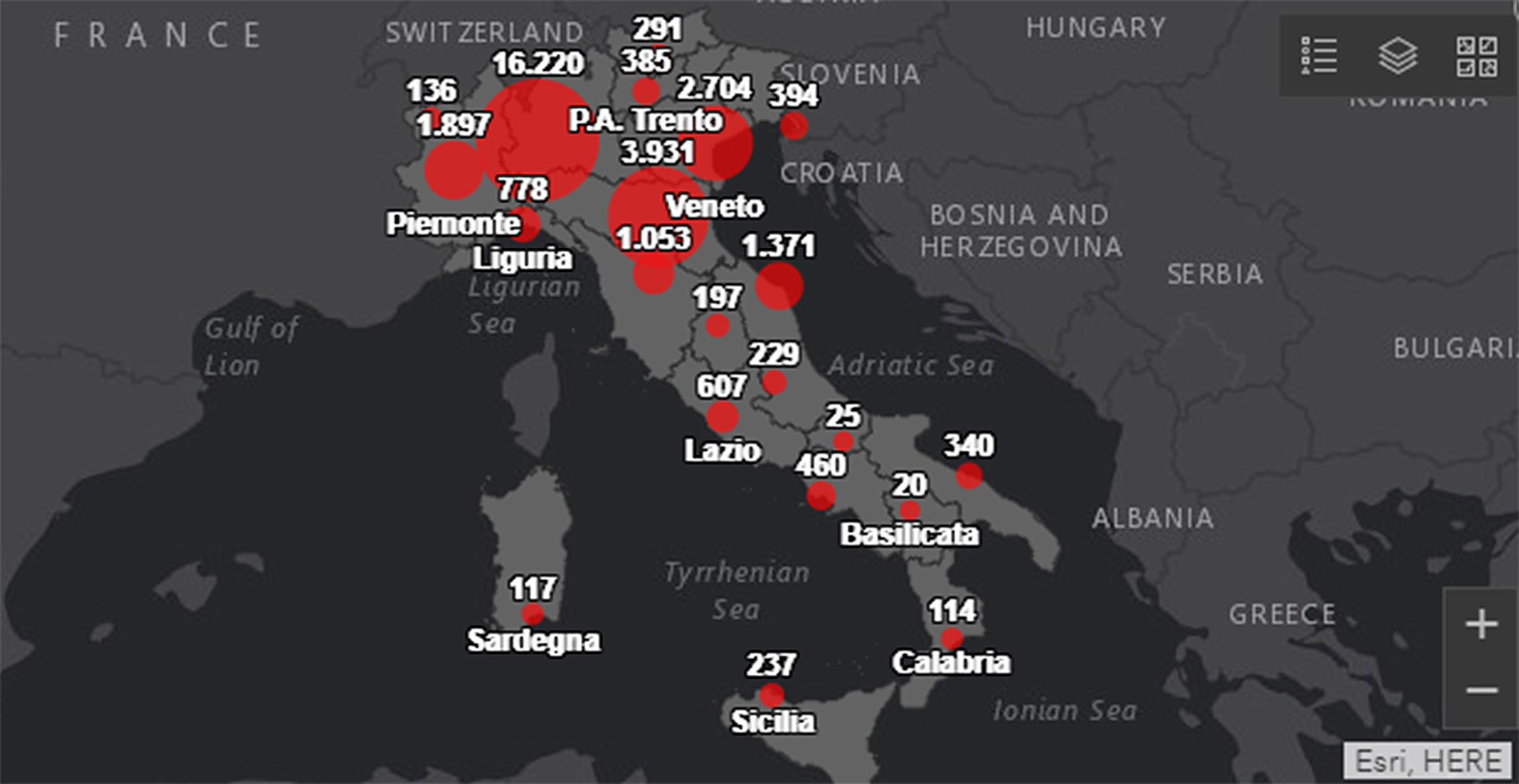 coronavirus-mappa