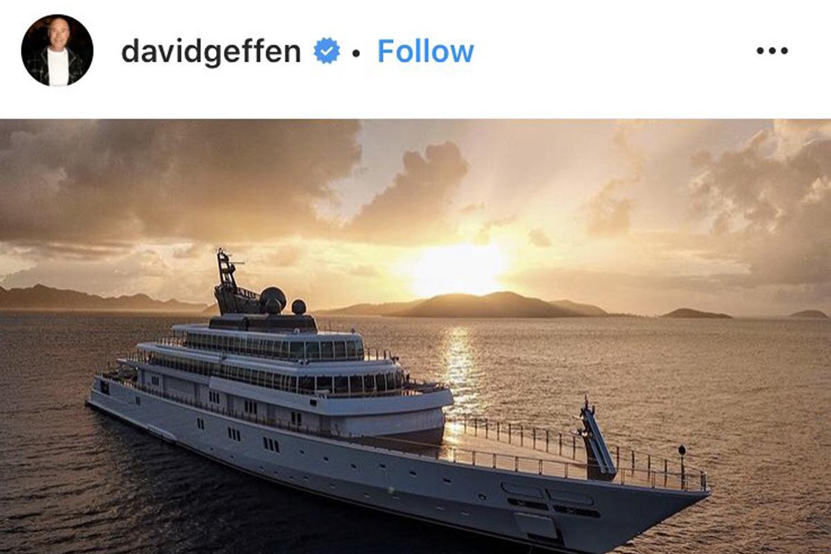 coronavirus quarantena geffen yacht