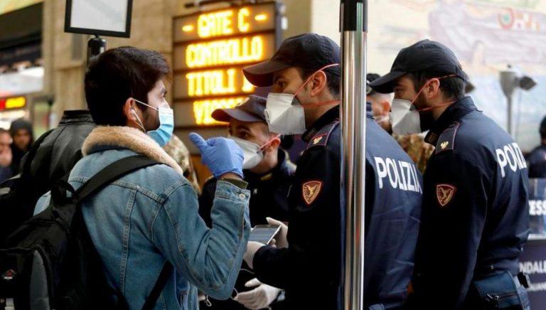 coronavirus tossisce poliziotto