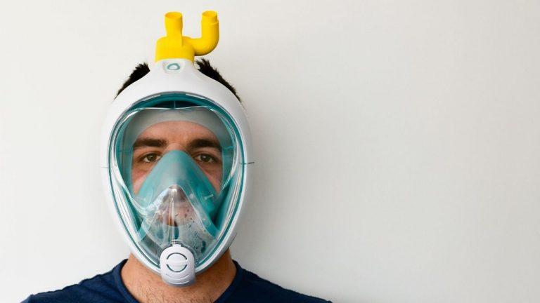maschere da sub trasformate in respiratori