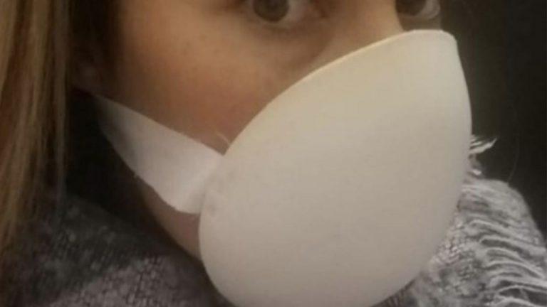 mascherina con reggiseno