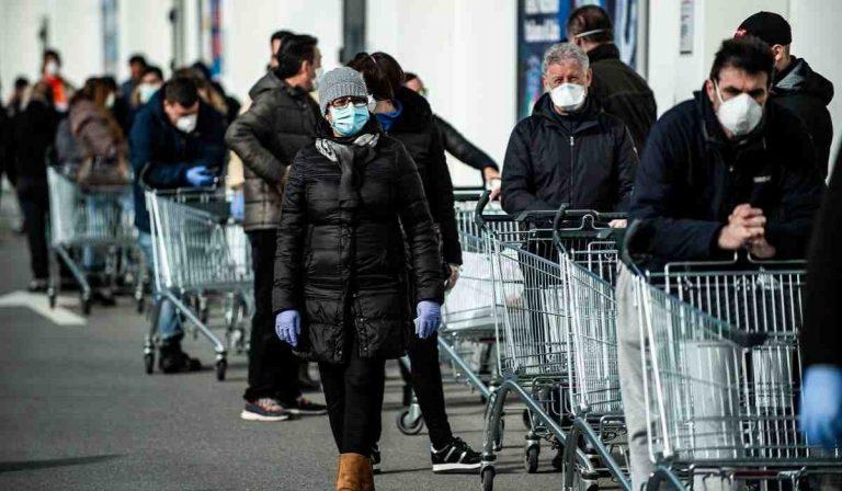 coronavirus lombardia misurazione febbre supermercati