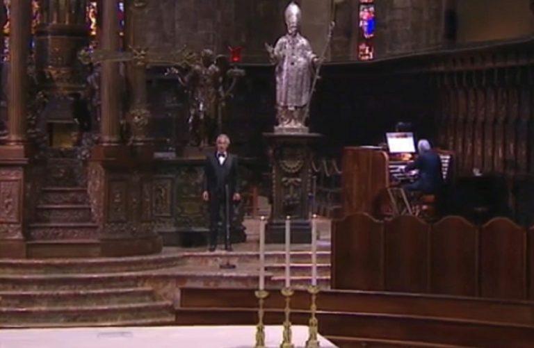 Concerto Pasqua Andrea Bocelli Duomo di Milano