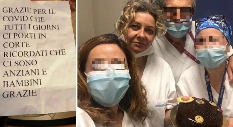 coronavirus infermiera biglietto