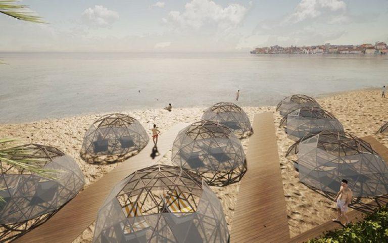 coronavirus spiagge cupole bamboo