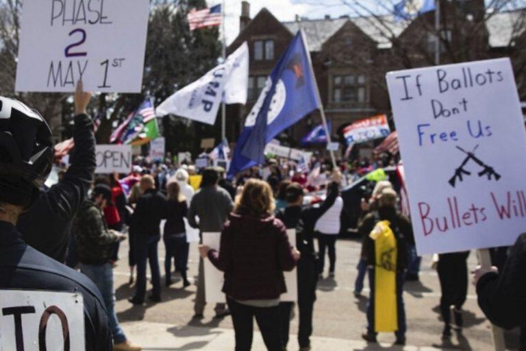 coronavirus usa proteste