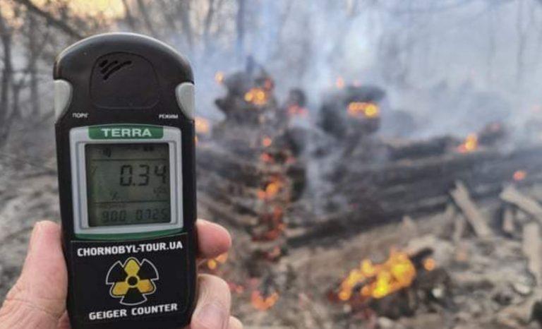 incendi chernobyl nube radioattiva