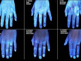 mani lavate viste al termoscanner