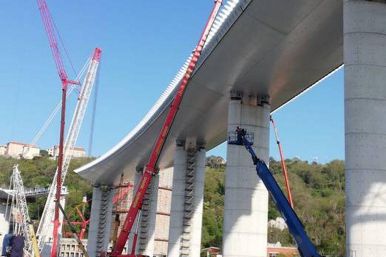 ponte genova 44 metri realizzazione