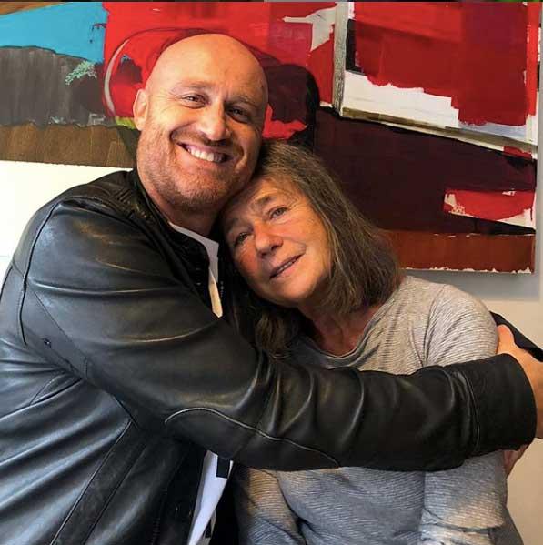 Rudy Zerbi con la mamma